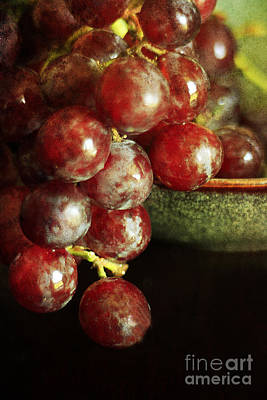 Red Grapes Art Print by Darren Fisher