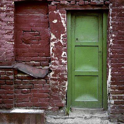 Photograph - Red Green Facade. Belgrade. Serbia by Juan Carlos Ferro Duque