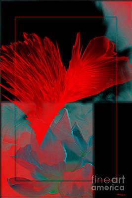 Red Heart Flower Art Print