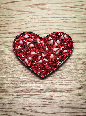 Red Hearts In A Heart Shape Art Print by Jonathan Kitchen