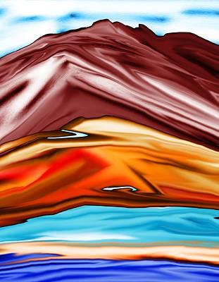 Digital Art - Red Hills Abstract Landscape 072811 by David Lane