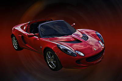 Red Hot Elise Art Print by Mike  Capone