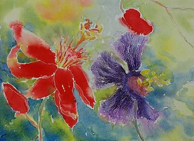 Painting - Red Hot Purple Passion by Tara Moorman