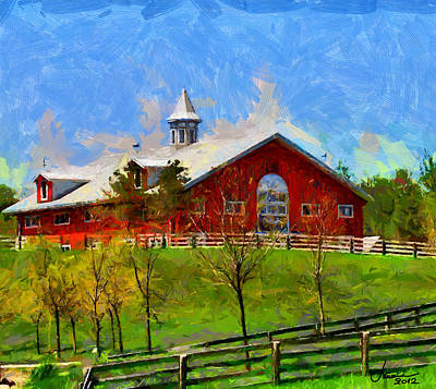 Red House In Caledon Tnm Art Print by Vincent DiNovici