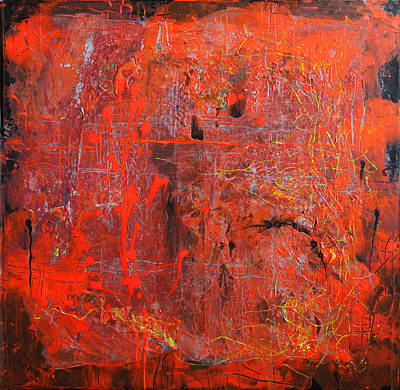 Art Print featuring the painting Red Ice by Lolita Bronzini