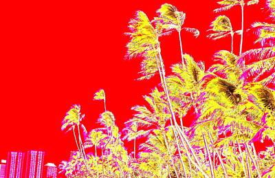Digital Art - Red Kaimana by Erika Swartzkopf