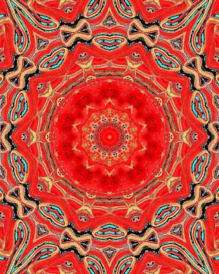 Art Print featuring the painting Red Kalideoscope by Carolyn Repka