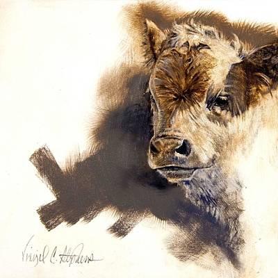 Virgil C Stephens Painting - Red Lake Ranch Resident by Virgil Stephens