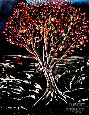 Painting - Red Leaf by Greg Moores