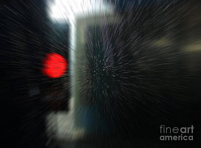 Digital Art - Red Light In The Car Wash Blurred by Nareeta Martin