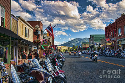 Photograph - Red  Lodge Motorcycle Rally by Gary Beeler
