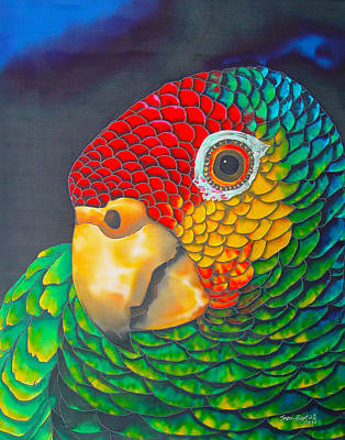 Parrot Art Painting - Red Lorred Parrot - Exotic Bird by Daniel Jean-Baptiste