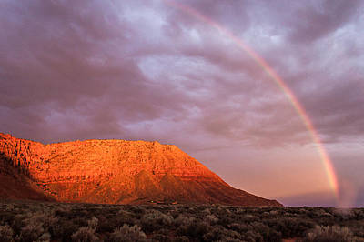 Photograph - Red Mountain Rainbow by Chris Fullmer
