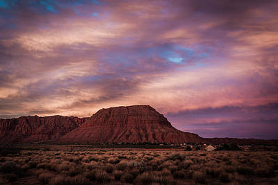 Photograph - Red Mountain Sunset by Chris Fullmer