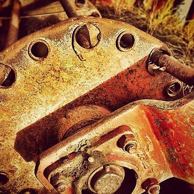 Machine Wall Art - Photograph - Red Mower #rusty #rust #machinery by Robert Campbell
