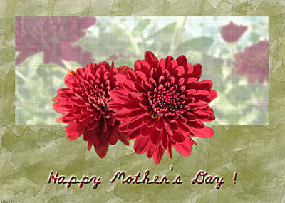 Photograph - Red Mum Greeting Card   Mother's Day by Debbie Portwood