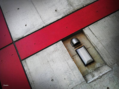 Photograph - Red On Concrete by Eena Bo