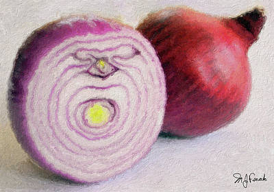 Red Onions Art Print by Michael Fencik
