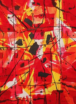 Painting - Red Orange Abstract by Jamie Frier