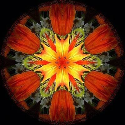 Fractal Wall Art - Photograph - Red Orange And Yellow #hippie by Pixie Copley
