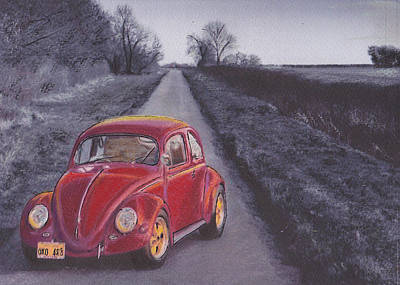 Red Oxo Art Print by Sharon Poulton