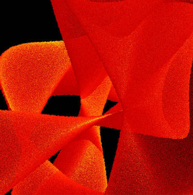 Fuzzy Digital Art - Red Passion by David B