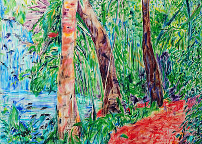 Red Path 03 Art Print by Bradley Bishko