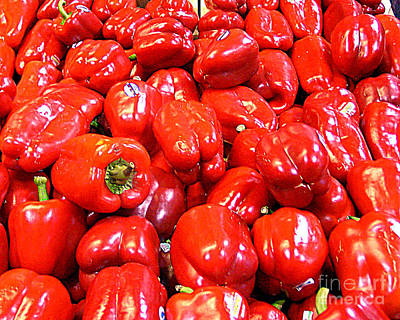 Photograph - Red Peppers For Sale by Merton Allen