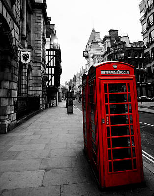 Photograph - Red Phone Booth by Mickey Clausen