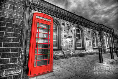 Photograph - Red Phone Box by Yhun Suarez