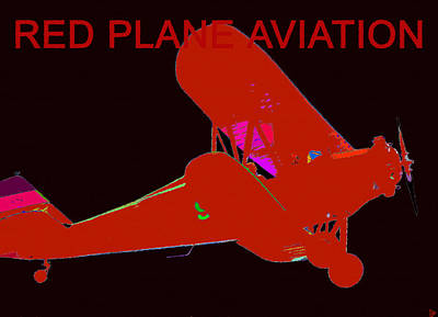 Passenger Plane Painting - Red Plane Aviation by David Lee Thompson