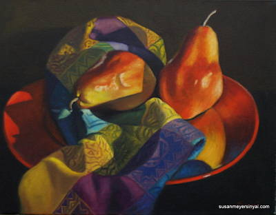 Painting - Red Plate Special by Susan Sinyai