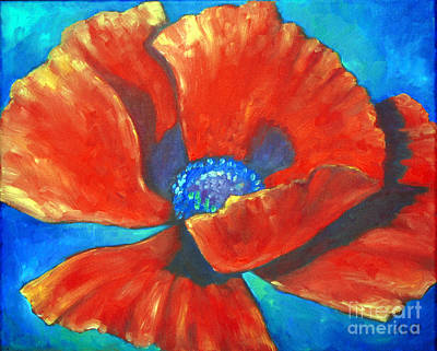 Painting - Red Poppy by Audrey Peaty