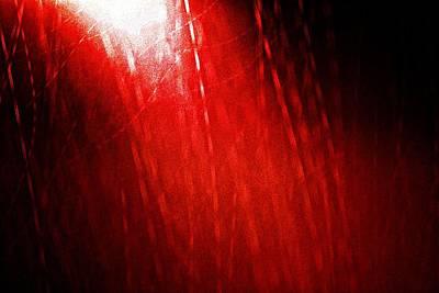 Red Rain 2 Print by Sandro Ramani