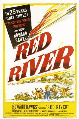 Postv Photograph - Red River, John Wayne, Joanne Dru by Everett