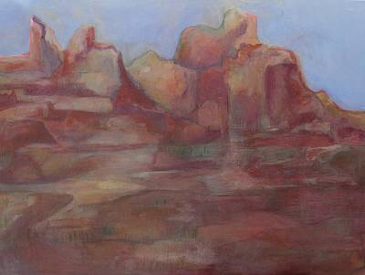 Painting - Red Rock Canyon Dream by Diane montana Jansson