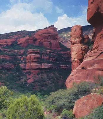 Digital Art - Red Rock Canyon Sedona by Jim Pavelle