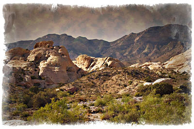 Photograph - Red Rock - Impressions by Ricky Barnard