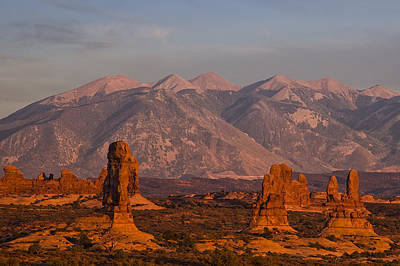 Red Rock Of Arches Art Print by Andrew Soundarajan