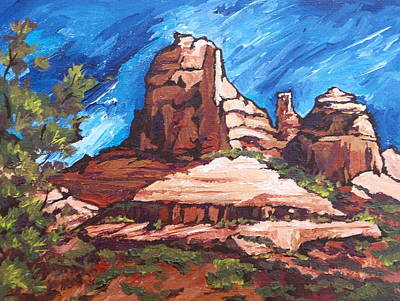 Oak Creek Painting - Red Rocks 2 by Sandy Tracey