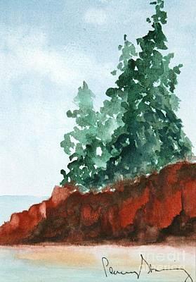 Red Rocks On Waters Edge Art Print