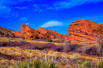 Red Rocks Park Colorado Art Print by David Patterson