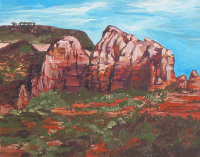 Oak Creek Painting - Red Rocks by Sandy Tracey