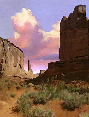 Red Rocks Art Print by Snake Jagger