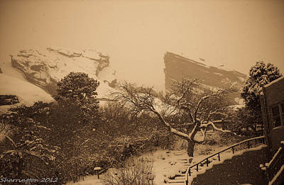 Photograph - Red Rocks Winter by Shannon Harrington