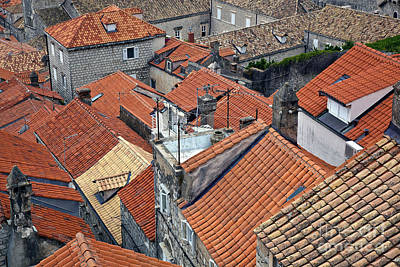 Red Roof Photograph - Red Roofs Of Dubrovnik by Madeline Ellis