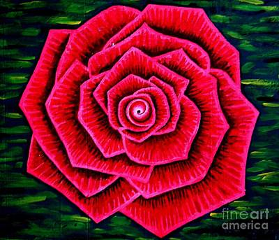 Farishields Painting - Red Rose by Far I Shields
