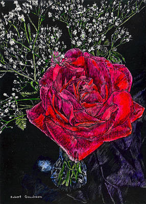 Painting - Red Rose by Robert Goudreau