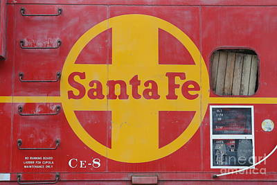 Red Sante Fe Caboose Train . 7d10333 Art Print