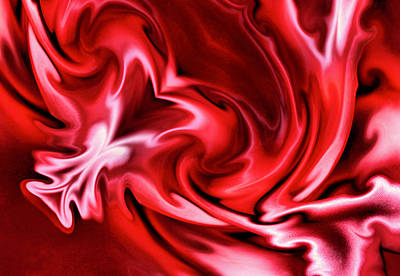 Photograph - Red Satin by Kristin Elmquist